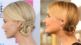 Charlize Theron Hairstyle, Braided Updo, Celebrity Secret Weapon