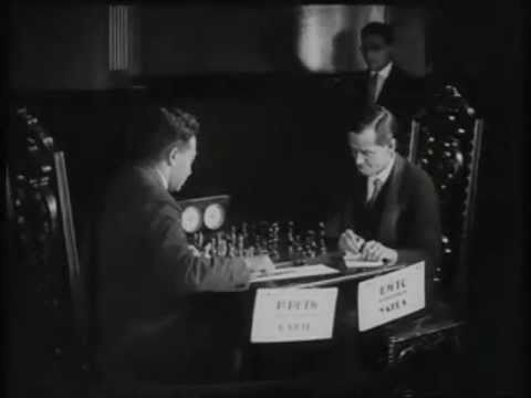 Frank Marshall's Outrageous pawn moves immortal game! vs Hyman Rogosin - 1940 clip