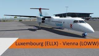 P3D V4.2 Full Flight - Luxair Dash 8 Q400 - Luxembourg to Vienna (ELLX-LOWW)