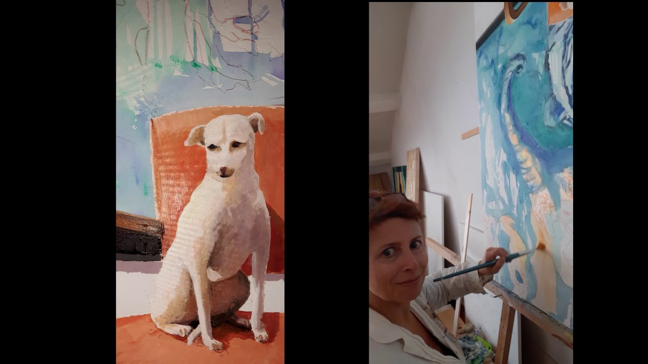 """Réverie painting! Click to watch video making of """"We all have dreams"""""""