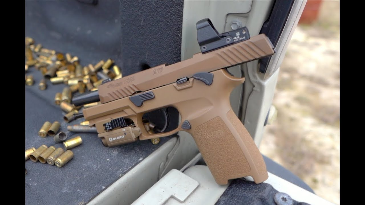 Pistol With Red Dot Sight - Sig Sauer P320 M17 & Leupold DeltaPoint Pro