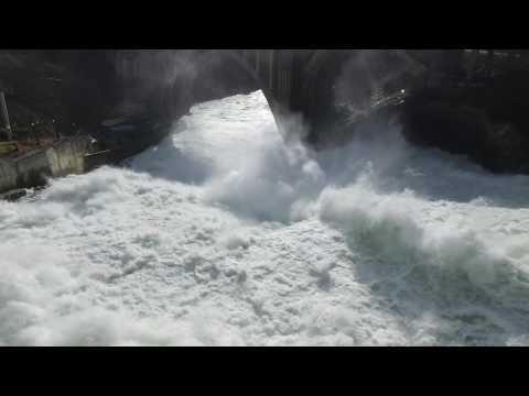 Aerial view of the Spokane Falls