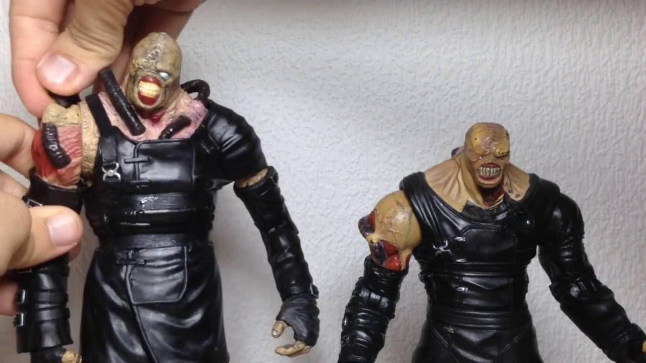 Resident Evil Nemesis Action Figure Comparison Moby Dick Vs