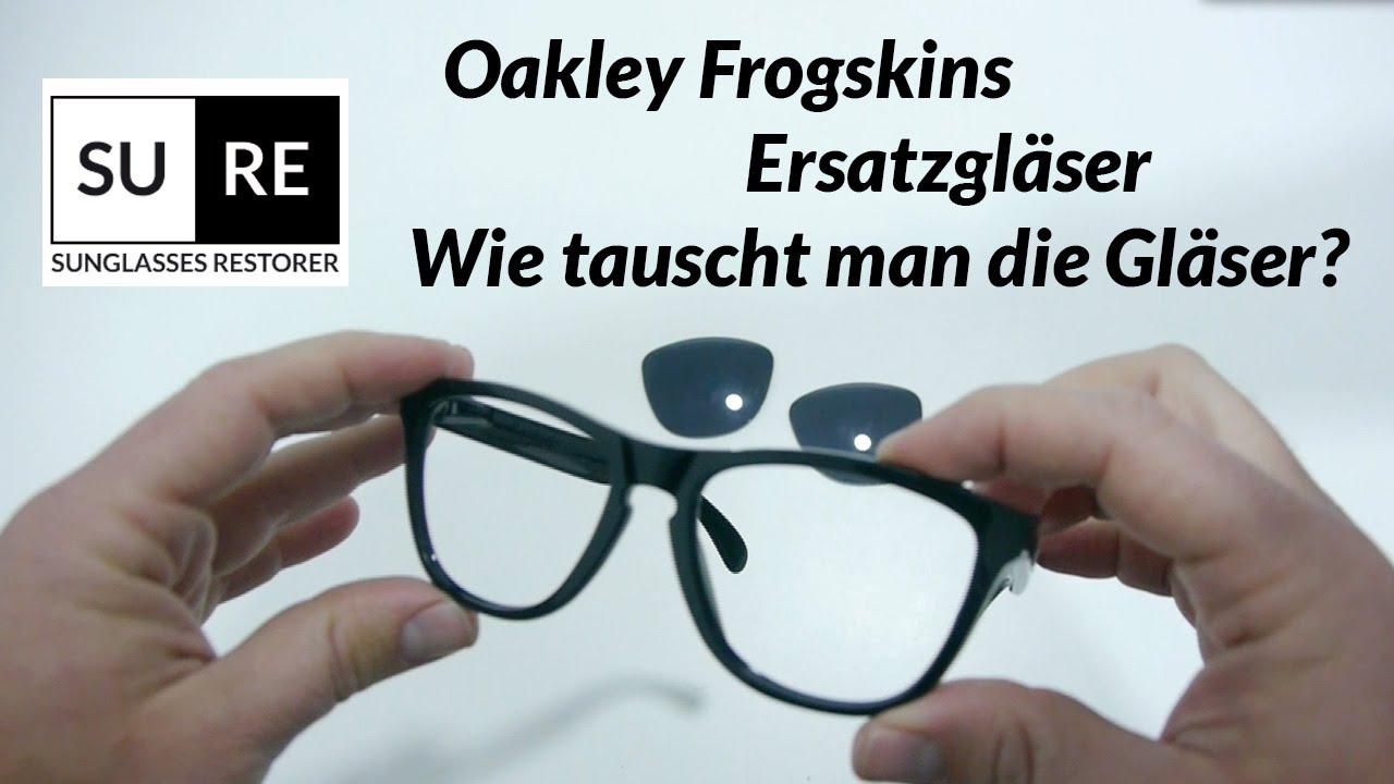 Oakley Frogskins Ersatzgläser - Wie tauscht man die Gläser? - YouTube