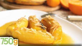 Recette de Banane flambée - 750 Grammes