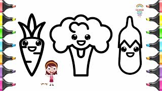 Coloring Pages For Kids Vegetables Drawing Books