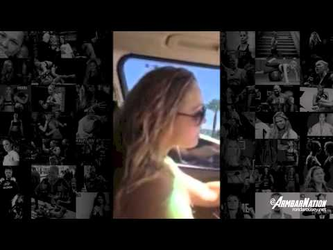 Ronda Rousey let's loose and sings