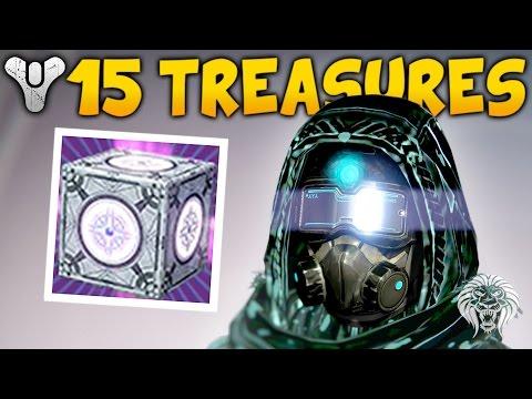 Destiny: OPENING 15 STERLING TREASURES! Sterling Treasure Loot Rewards (April Update)