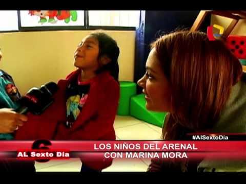Los Niños Del Arenal: Marina Mora Con Los Pequeños De Mi Perú