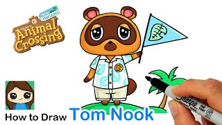 How to Draw Tom Nook Raccoon | Animal Crossing