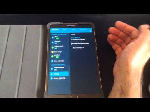 Samsung Galaxy Tab S 8.4 & 10.5 Tip: Print To An HP Printer