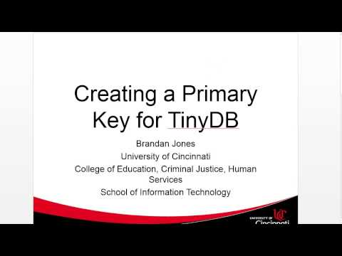 Create a PrimaryKey for TinyDb in AppInventor