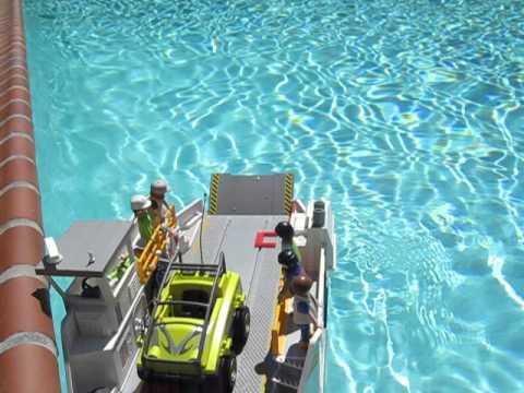 Playmobil car ferry in pool youtube - Playmobil swimming pool best price ...