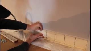 видео как положить плитку на кухне фартук