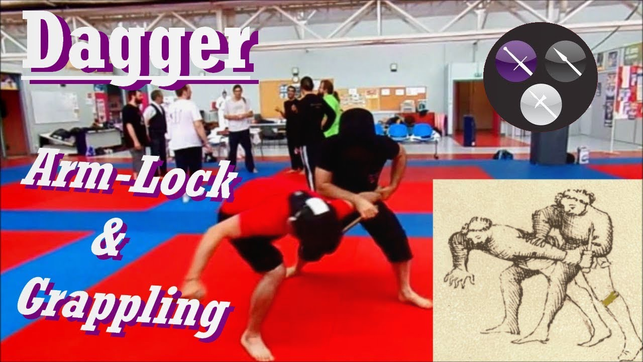 AMHE/ HEMA - Fiore dagger & arm-lock combos (Grappling de dague)