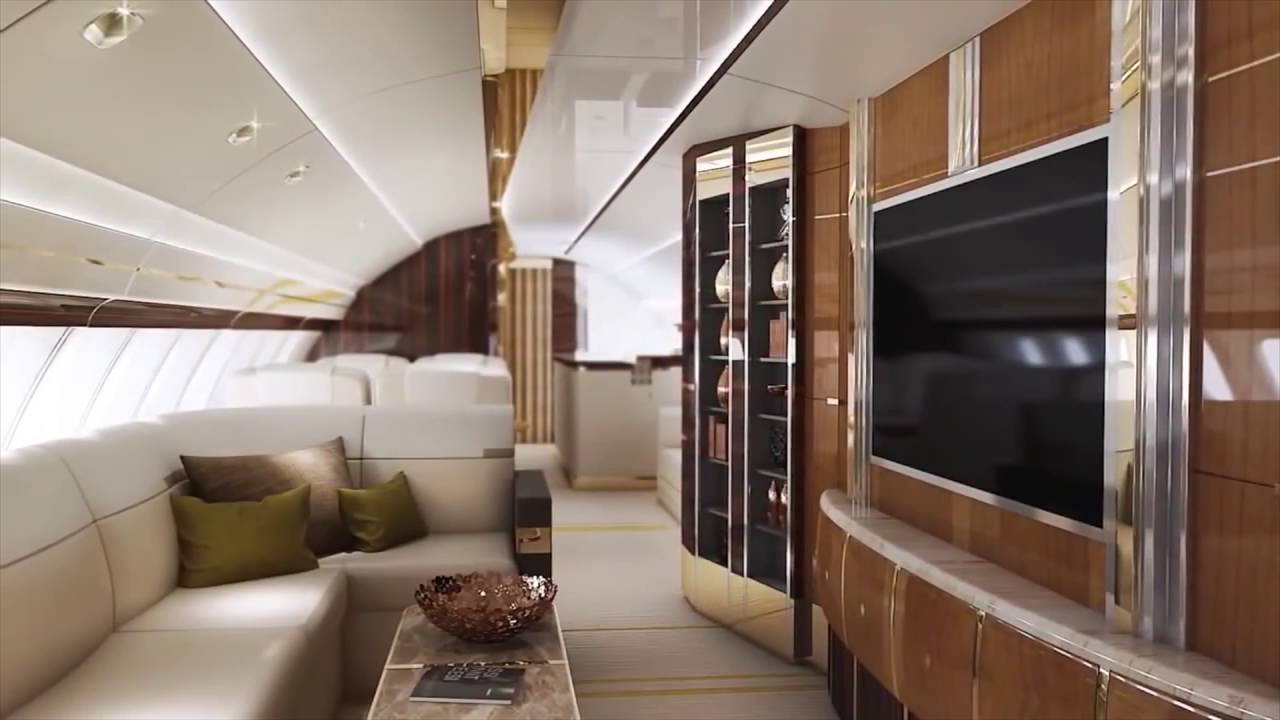 Most Luxurious Plane Boeing 747 8 Vip Youtube