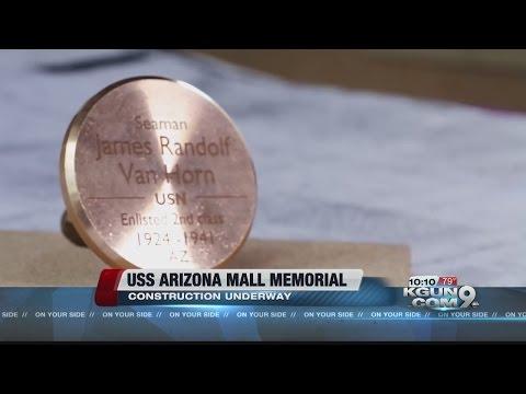 USS Arizona Mall Memorial construction underway