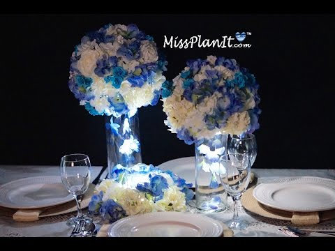 Blue Wedding Centerpiece / DIY / How To Create This Blue Skies Centerpiece