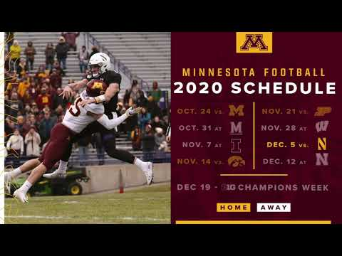 2020 Gopher Football Schedule Release Youtube