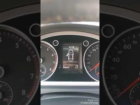 Проверка датчика температуры окружающей среды VW Passat Cc 2013