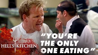 Chef Eats More Food Than The Customers | Hell's Kitchen