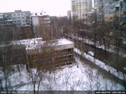 webcam TimeLapse video from Sofia, Bulgaria - 17-23.12.2012