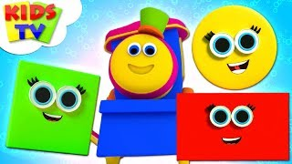 Build With Shapes | Learning Videos - Bob The Train | Nursery Rhymes by Kids TV