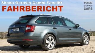 2017 Skoda Octavia Combi Facelift Review Fahrbericht Test Probefahrt   Voice over Cars