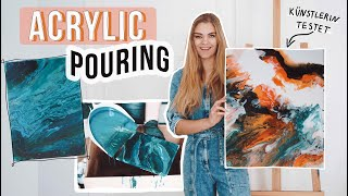 Künstlerin testet virale Acrylic Pouring Techniken // I'mJette