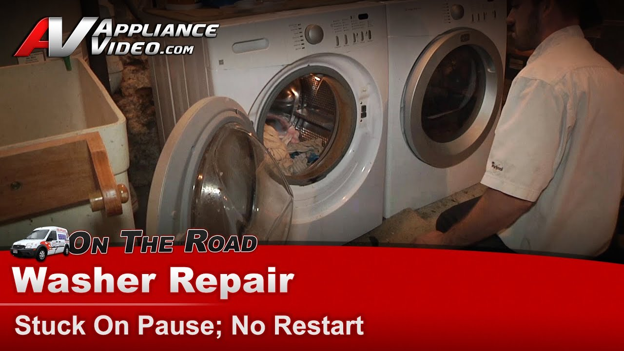 maxresdefault frigidaire & electrolux washer repair stuck on pause, no restart  at highcare.asia