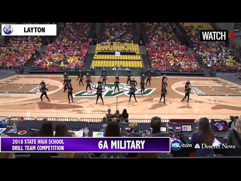6A 5A Drill Team UHSAA 2018 State Tournament Finals