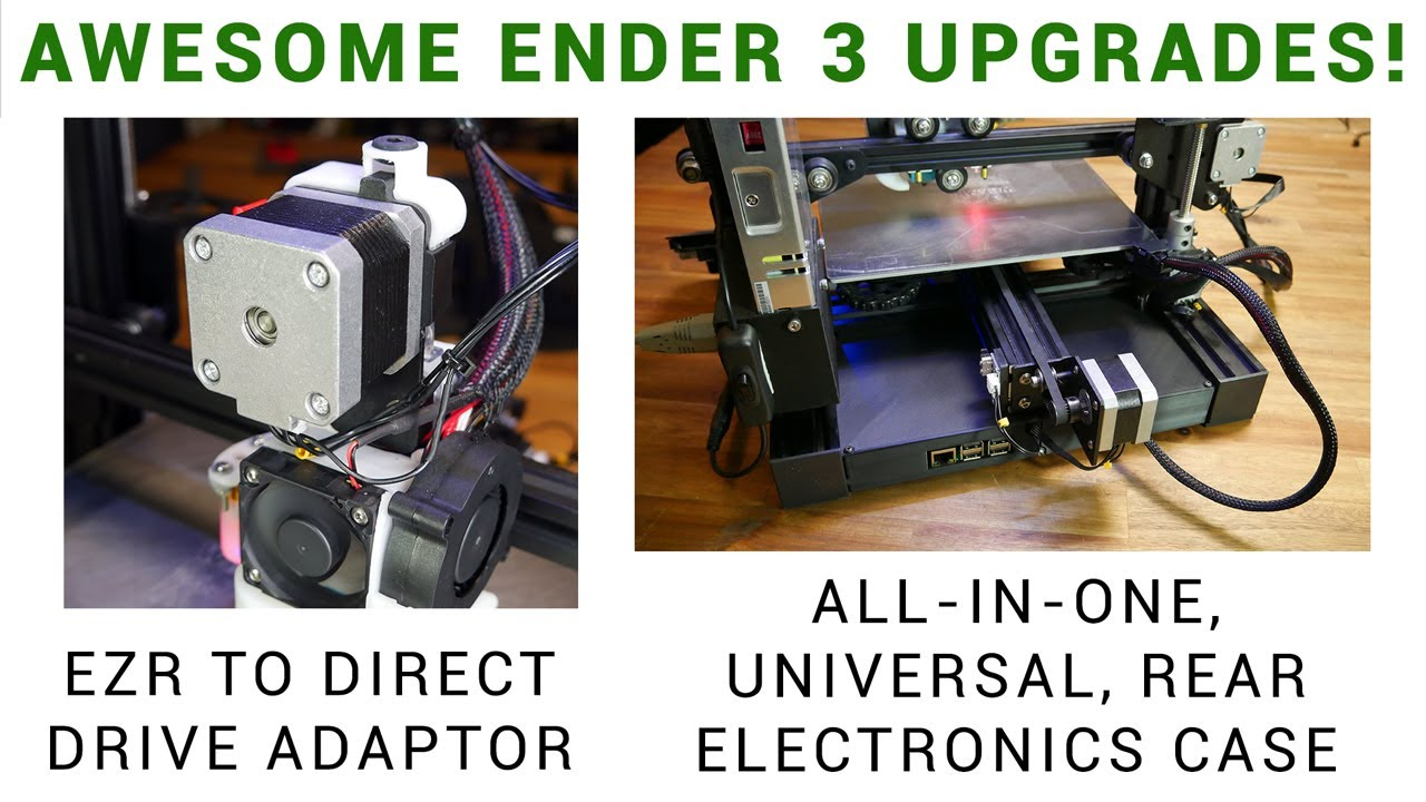 image about Ender 3 Printable Upgrades named Ender 3 updates: EZR toward lead inspiration adaptor and all inside 1 rear fixed electronics circumstance