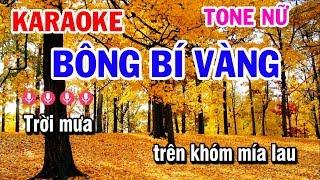 Karaoke Bông Bí Vàng | Nhạc Sống Tone Nữ Dễ Hát | Karaoke Tuấn Cò