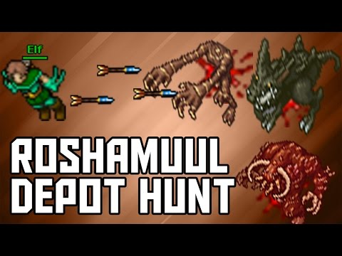 [Tibia Where to Hunt - RP 150+] Roshamuul Depot (550-600k/hr @ 122 Dist)