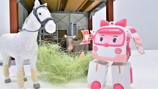 Видео для детей. Робокар Эмбер наводит порядок на ферме.