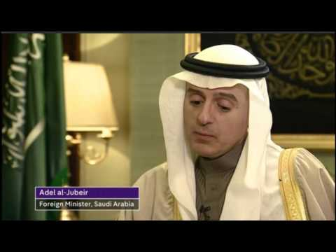 Saudi Arabia's foreign minister defiant over 'war crimes' and beheadings
