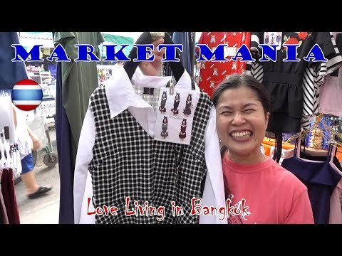 Bargain Shopping Village Market Bangkok Our Sunday Rituals