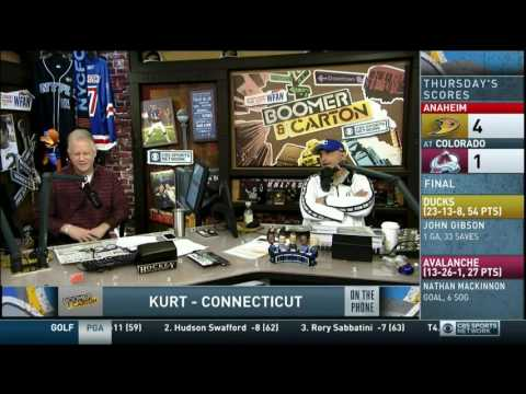 Boomer and Carton - Kurt in CT - NFL Betting call