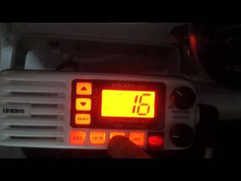 VHF-ES - Rádio VHF Marítimo UNIDEN SOLARA