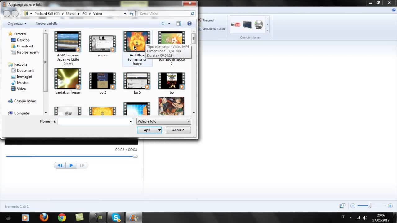 come unire video con window live movie maker