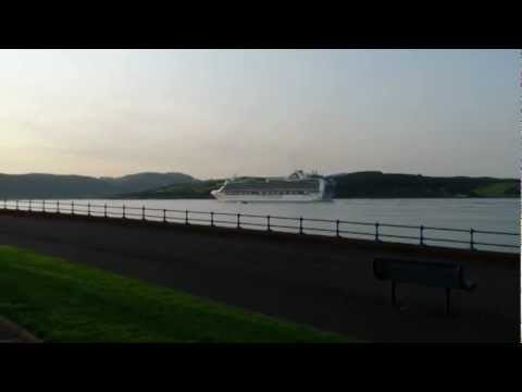 Emerald Princess called at Greenock for the first time today