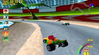 Woody Woodpecker Racing pc (Game play PT-BR)