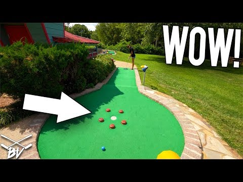 COULD YOU GET A MINI GOLF HOLE IN ONE AT THIS?!