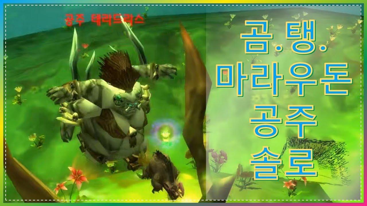 와우 클래식 드루이드 곰.탱 특성으로 마라우돈 공주님 혼자 잡기