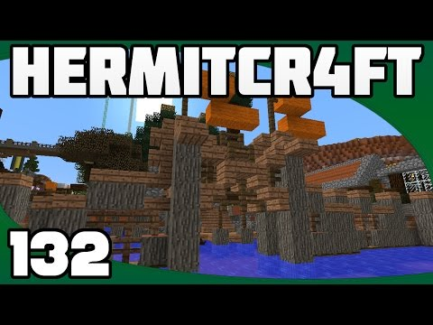 Hermitcraft 4 - Ep. 132: Sea Town Docks & Gates (w/ PythonGB)