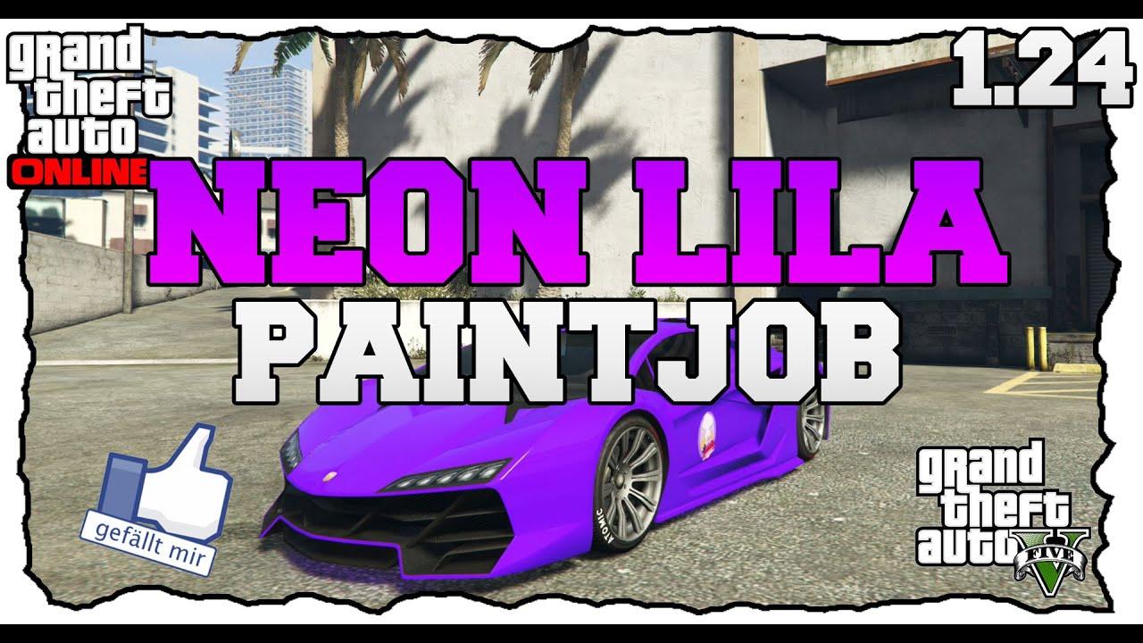 Gta 5 online neon lila paintjob [patch 1.24 und 1.26] [deutsch ...