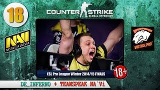CS:GO de_inferno NA`Vi vs Virtus.pro + TEAMSPEAK NA'Vi (18+!!!) ESL PRO LEAGUE WINTER 14/15 FINALS