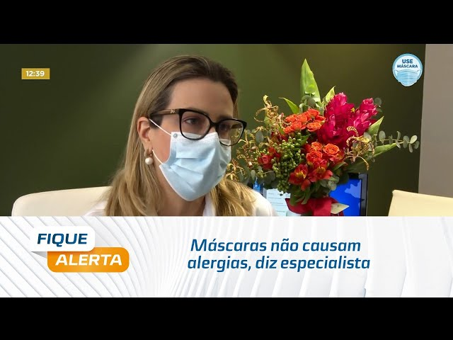 Máscaras não causam alergias, diz especialista