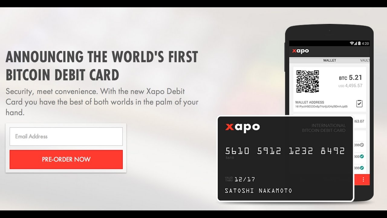 Bitcoin Can Purchase Anything With Xapo Visa Its Same As A Normal Visa