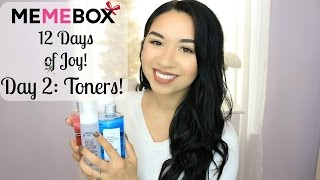 MEMEBOX 12 DAYS OF JOY | Day 2: Toners!